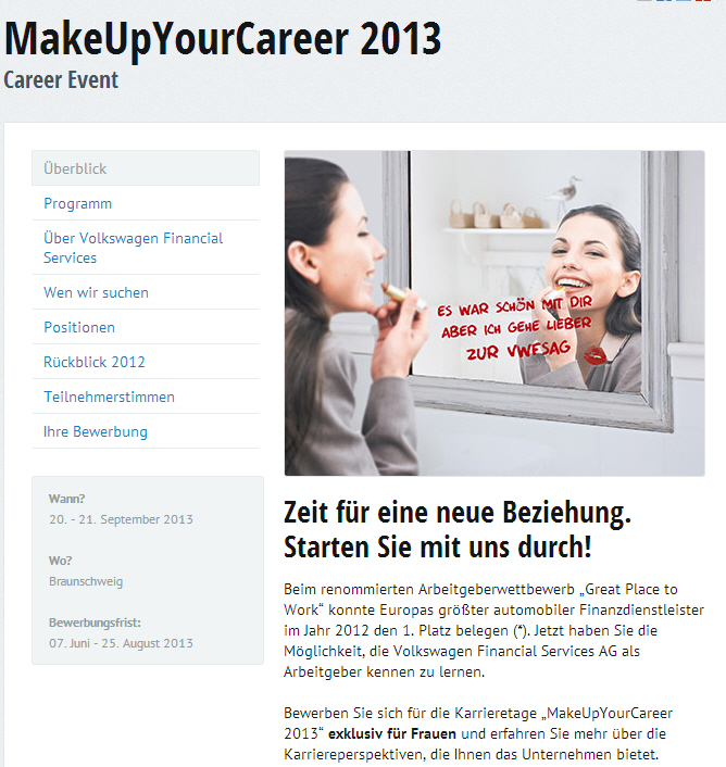 make up your career - female Recruiting pur