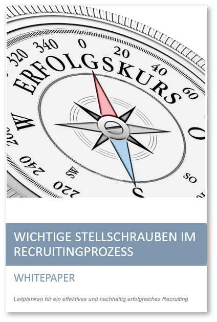 Deckblatt Whitepaper Stellschrauben im Recruitingprozess