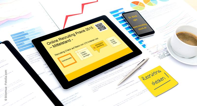 Infografik Online Recruiting Praxis im Mittelstand