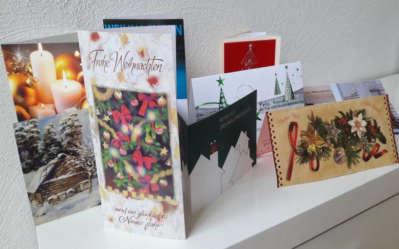 Weihnachtskarten und Bewrberkorrespondenz