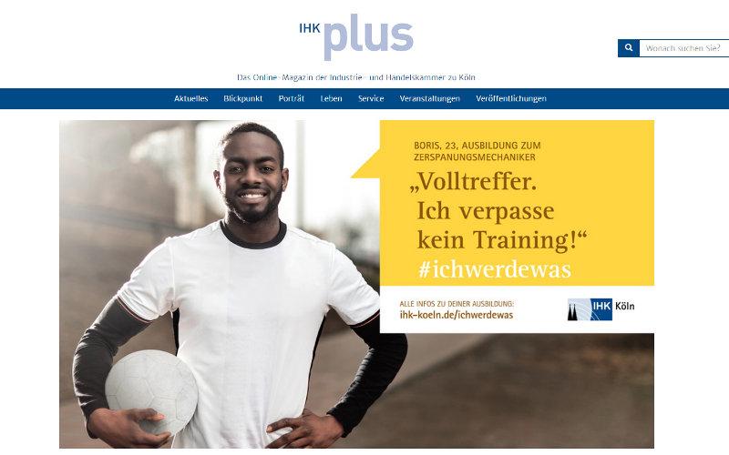 Ausbildungsmarketing der IHK Köln