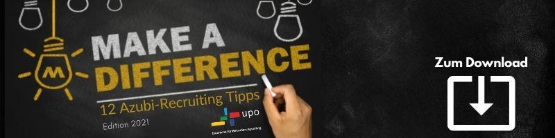 E-Book Make a Difference - 12 Azubi-Recruiting Tipps 2021